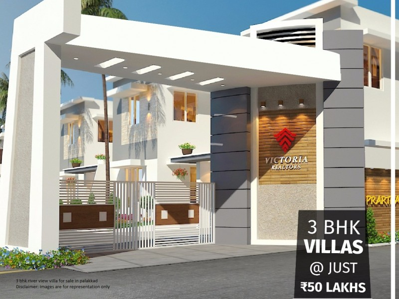 Brand new 3 BHK River view villa for sale in Palakkad town in 5cent