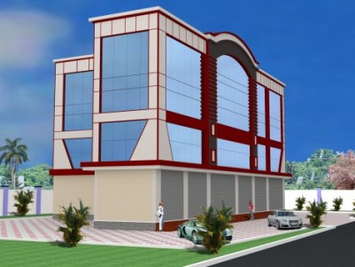COMMERCIAL COMPLEX SUITABLE FOR SHOWROOMS  AND BANKS AT MC ROAD ,MULAKUZHA.