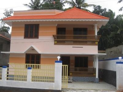 1400 Sq.ft 3 BHK villa on 4 cents land for Sale at Nedumangaud, Thiruvananthapuram.