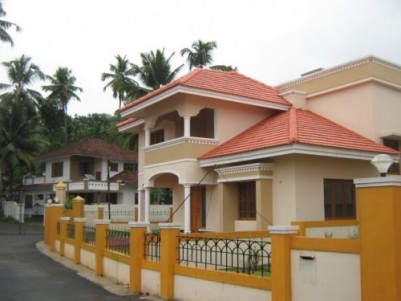 2700 Sq.ft 3 BHK Villa on 10 Cent land for sale at Devalokam,Kottayam.