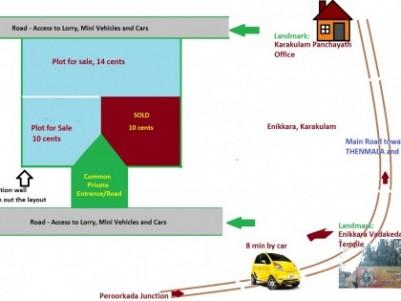 10 Cent Residential Land for sale at Karakulam.Trivandrum.