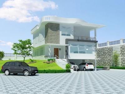 2800 Sqft Posh Villa on 6 Cents of land for sale at Nalanchira,Thiruvananthapuram.