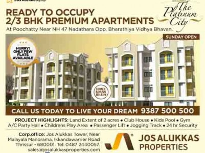 The Platinum City -Apartments for sale at Poochatti, Thrissur.