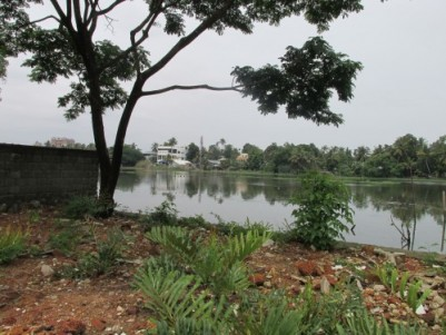18 cent water frontage land for sale at Divine Nagar,Chittoor,Ernakulam.