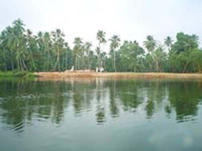 3.70 acres of water frontage land for sale at Vaikom, Kottayam