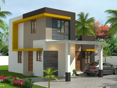 Fully industrial area+2 BHK Villa for sale +3 Cents at Pudussery,Palakkad.