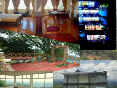 Resort with beautiful view of dam for sale at Munnar.