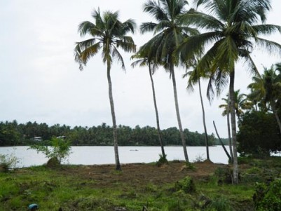 20 Cents of Water Front Land for sale Near Anapuzha-Krishnan Kotta Bridge,Kodungallur,Thrissur.