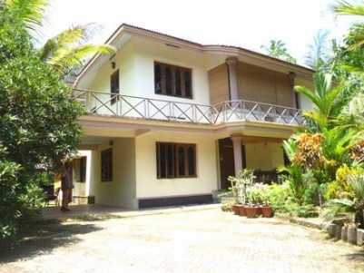 1.2 Acres of Water frontage Land with House for sale at Chengannur,Alappuzha.