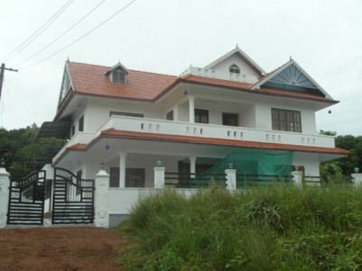 2600 Sq.ft.4 BHK  House on  8 cent land for sale near Adichira,Kottayam.