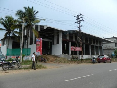 7500 Sqft Newly Constructed Commercial Space for rent at Aluva-Paravoor Route,Ernakulam District.