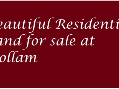 Beautiful Residential Land between NH47 and Bypass for sale at Thattamala,Kollam.