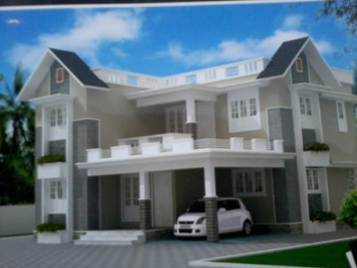 2400 Sq ft 4 BHK beautiful Villa on 6.5 cent of land for sale at KALLETTUMKARA,THRISSUR.