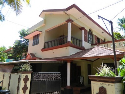 2750 Sqft 4 BHK Semi Furnished House on 7.5 Cent land for sale at Karicode,Kollam District.