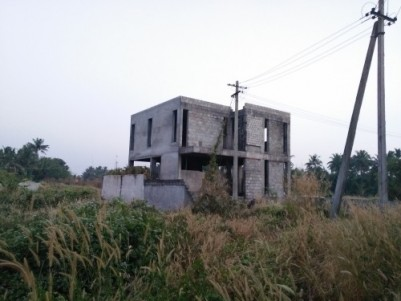 6 Cents of land with 2000 Sqft incomplete House for sale at Chembukavu,Thrissur.