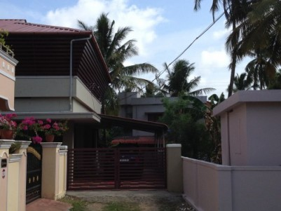 7.61 cents of land, 2 BHK house around 1200 sq ft at Manappullikavu Palakkad