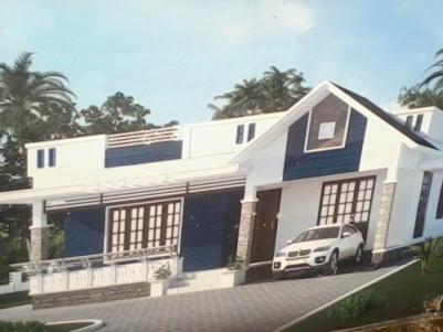 1300 Sqft 3 BHK beautiful Villa for sale at Vllachira near Cherpu,Thrissur.