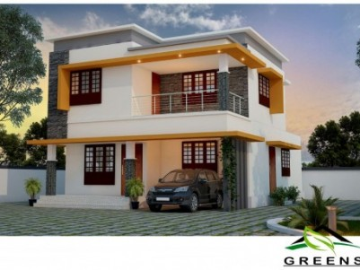 Walkable distance to Railway Station FOR SALE New 3BHK villa Palakkad