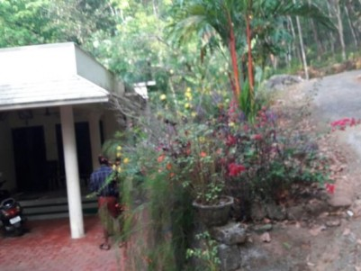 1 Acre land with a house for sale at Plassanal, Palai.
