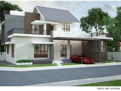 3500SQ.FT 5BHK Attached Posh House on 6.3cents of land for sale at Jedgus Avenue Kaloor Ernakulam