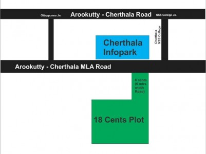 26 Cents of Residential Plot for Sale Near Infopark, Cherthala, Alappuzha