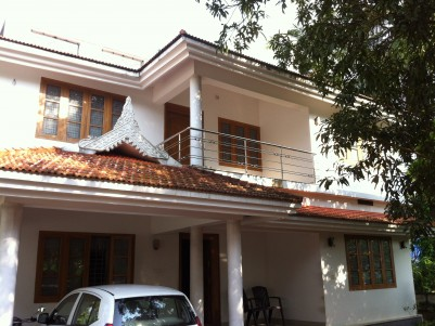 Double storied house for sale at Kuttur, Thrissur