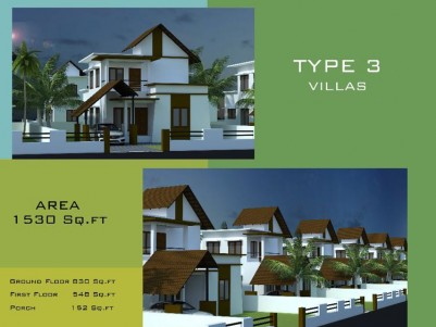 3BHK, 6 Cents of Land (10  villas) for sale at Nilambur