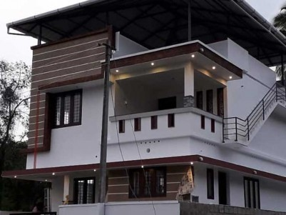 1425 SqFt, 3 BHK New House on 3 Cents of Land for Sale at Puthiyakav, Tripunithura