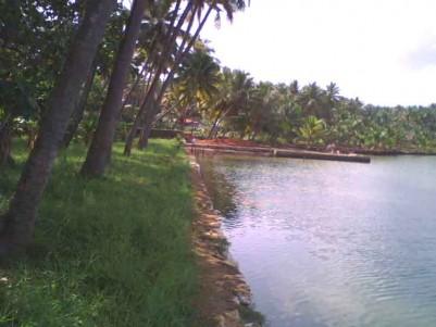 1.65 (plus) Acre, Double Lake front Land for Sale at Paravur,  Kollam.
