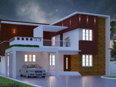 8.25 Cents of land with 1700 SqFt Modern style Posh House for sale Eattumanoor, Kottayam