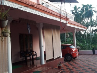 10 Cent with 1600 SqFt, 3 BHK Residential House for sale near Bharananganam Church, Kottayam