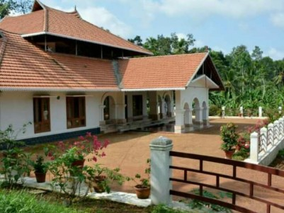 2 Acre land with 3000 SqFt, 4 BHK Resort model House for sale near Mannanam, Kottayam