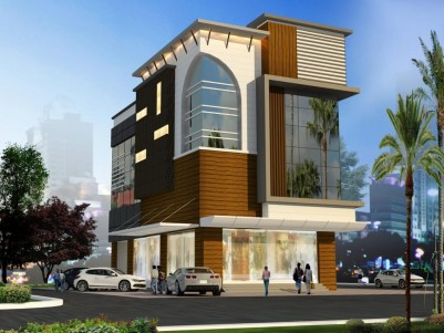 6500 SqFt Commercial Building in 7.5 Cents for sale at Thrissur Town