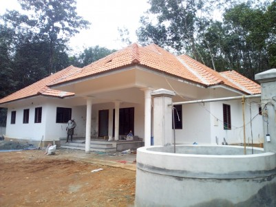 16.5 Cent Residential Land with 2600 sqft 4 BHK House for sale Puliyannoor, Pala