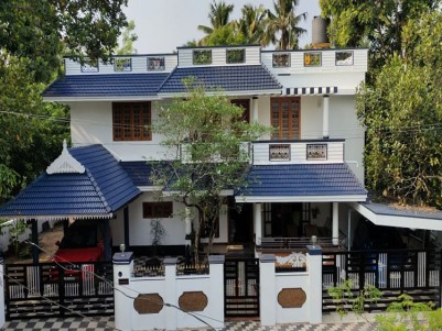 10 Cents with 2200 Sqft 3 BHK Furnished  Posh House for sale at Udayamperoor, Ernakulam